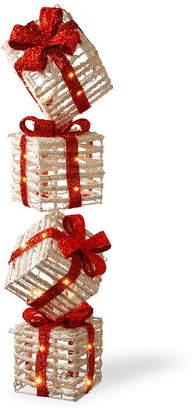 National Tree Co Pre-Lit 33i Sisal Gift Box Tower