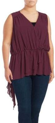 Seven7 Plus Flounce Tank Top