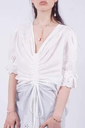 Nu New York White Eyelet Dress