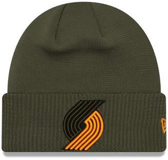 New Era Portland Trail Blazers Tip Pop Cuffed Knit Hat