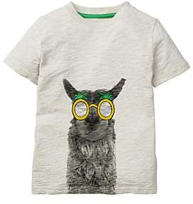 1fa144a245ca at John Lewis and Partners · Boden Mini Boys' Graphic Llama Print T-Shirt,  Oatmeal