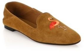 Aquazzura Flamingo Suede Loafers $595 thestylecure.com
