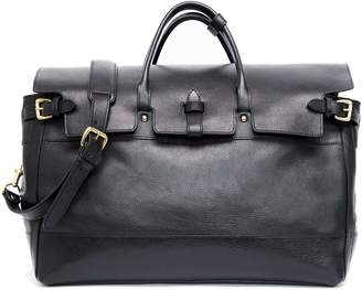 Todd Snyder Exclusive Lotuff Leather + Satchel in Black