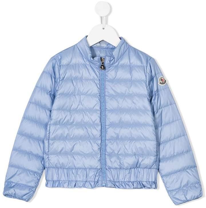 ruffle-trim padded jacket