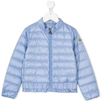 Moncler ruffle-trim padded jacket