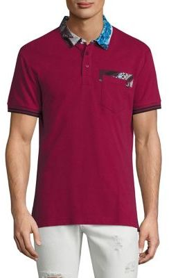 Versace Jeans Printed Rhododendron Polo $150 thestylecure.com