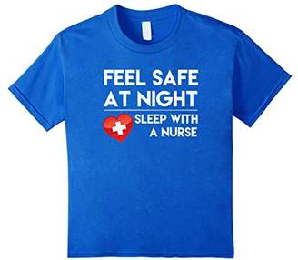 Feel Safe At Night Sleep With A Nurse Tshirt