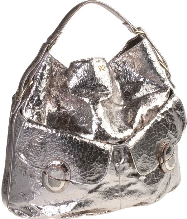 Crackled Mirror Satchel by Anya Hindmarch