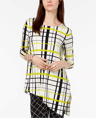 Alfani Petite Asymmetrical Print Tunic, Created for Macy's
