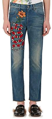 Gucci Men's Embellished Slim Jeans
