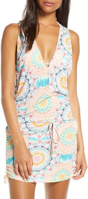 Luli Fama T-Back Cover-Up Minidress