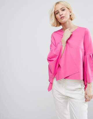 Asos Occasion Shell Top with Exaggerated Ruffle Sleeve