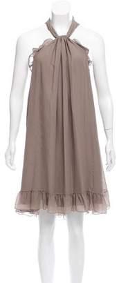 Derek Lam Ruffle-Trimmed Silk Dress