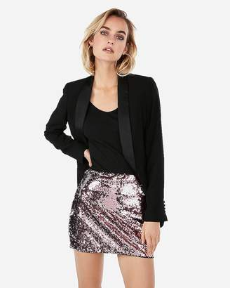 Express Two Way Sequin Mini Skirt