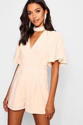 boohoo Choker Style Woven Playsuit