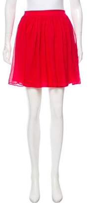Alice + Olivia Silk Mini Skirt