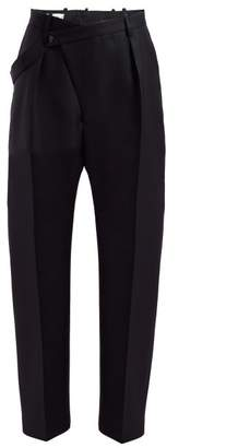 Jil Sander Floyd Wool Twill Trousers - Womens - Dark Blue