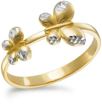 Fine Jewellery 10K Gold Two-Tone Butterfly Ring