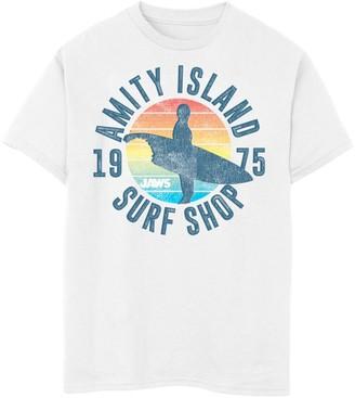 Island Surf Unbranded Boys 8-20 Jaws Amity Shop 1975 Retro Logo Graphic Tee