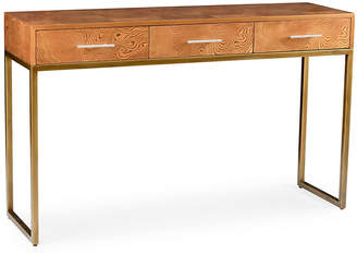 """Chelsea House Maeve 56"""" 3-Drawer Console - Ochre"""