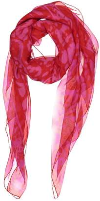 93ae914cd Alexander McQueen Red Silk Scarves