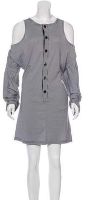 Y-3 Cold Shoulder Mini Dress