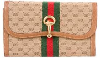 Gucci Vintage GG Plus Web Wallet