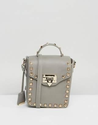 Glamorous Studded Lock Detail Boxy Cross Body Bag