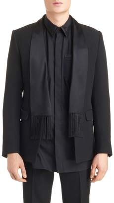 Givenchy Scarf Lapel Evening Jacket