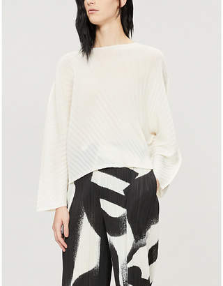 Pleats Please Issey Miyake Round-neck pleated top