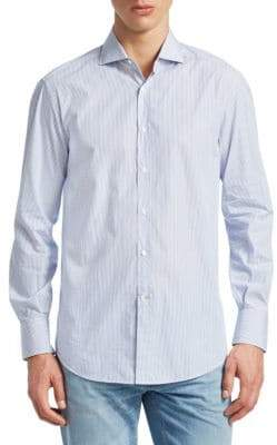 Brunello Cucinelli Stripe Button-Down Shirt