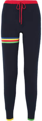 Madeleine Thompson Pluto Striped Cashmere Track Pants - Navy