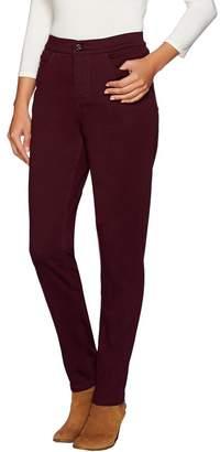 "Denim & Co. How Modern"" Tall Colored Denim Slim Leg Jeans"