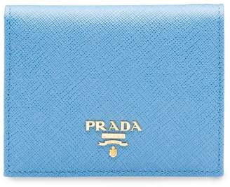 Prada logo plaque small wallet