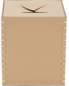 Arte & Cuoio Leather Boutique Tissue Box Cover - Sand