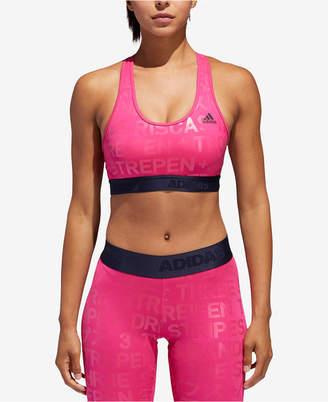 65a744316 adidas AlphaSkin ClimaCool® Metallic-Print Medium-Support Sports Bra
