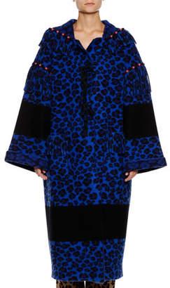 Alanui Leopard-Print Ankle-Length Wool Coat