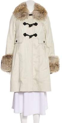 Marc by Marc Jacobs Marc Jacobs Fur-Trimmed Long Sleeve Coat