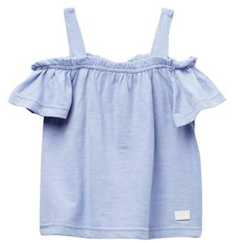 7 For All Mankind Off Shoulder Top (Little Girls)