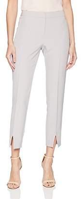 Adrianna Papell Women's Split Front Bottom bi Stretch Pant
