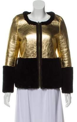 Jocelyn Metallic Shearling Jacket