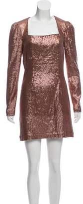 Intermix Sequin Mini Dress Rose Sequin Mini Dress
