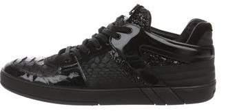 Louis Vuitton Snakeskin Low-Top Sneakers