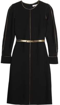 Elizabeth and James Annabelle Metallic-Trimmed Crepe De Chine Dress
