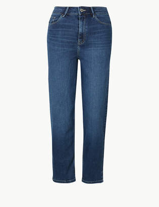 Marks and Spencer Sculpt & Lift Straight Leg Cropped Jeans