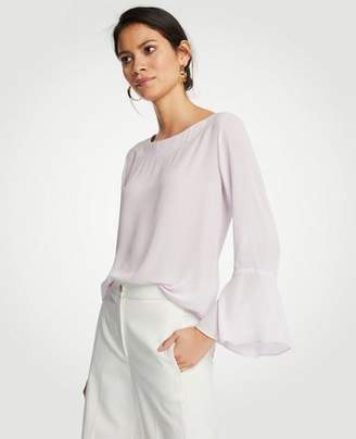 Ann Taylor Boatneck Flare Sleeve Blouse
