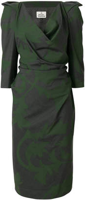 Vivienne Westwood structured shoulder dress