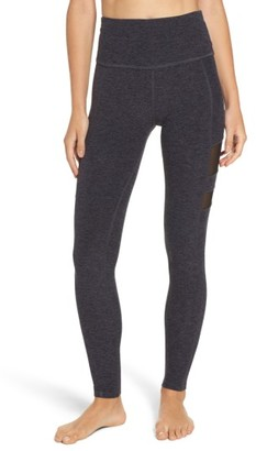 Women's Beyond Yoga High Striped Mesh Leggings $110 thestylecure.com