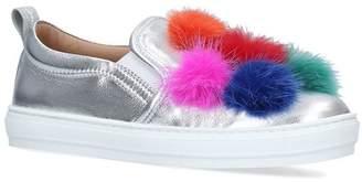 Salvatore Ferragamo Pom Pom Sneakers
