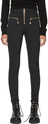 Versus Black Stretch High-Waisted Trousers